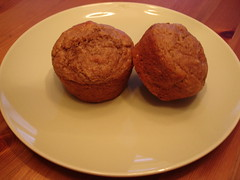 Banana Cinnamon Whole Wheat Muffins
