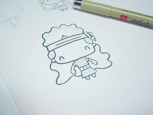 Desenho da bonequinha LUDA