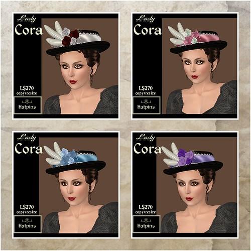 Hatpins Lady Cora