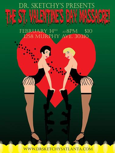 St Valentine's Day Massacre flyer