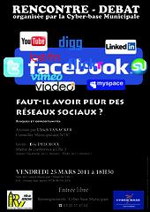 affiche : faut-il avoir peur des réseaux sociaux