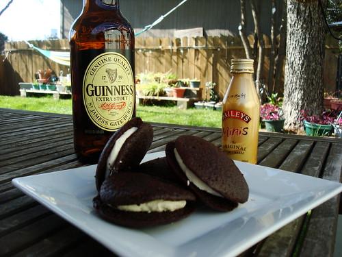 Chocolate Stout and Irish Cream Whoopie Pies