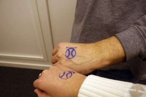 there's a funny story about those hand stamps