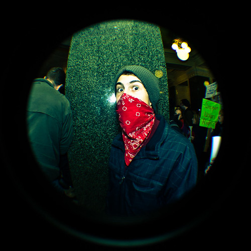 Masked Protester in the Capitol - Day 8