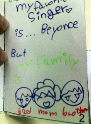 My favorite singer is ...Beyonce, but my family is:
