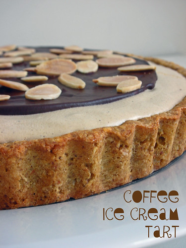 coffee ice cream tart