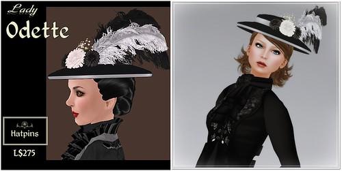 Hatpins - Lady Odette - Sixty Linden Weekend