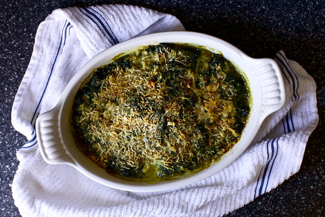 dreamy baked spinach