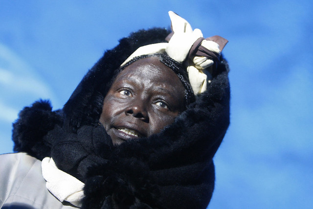 Wangari Maathai at the Svalbard Global Seed Vault