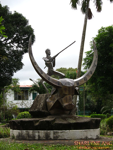Tamaraw Sun Dial Outside the Church of the Angry Christ
