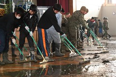 Operation Tomodachi high school clean-up
