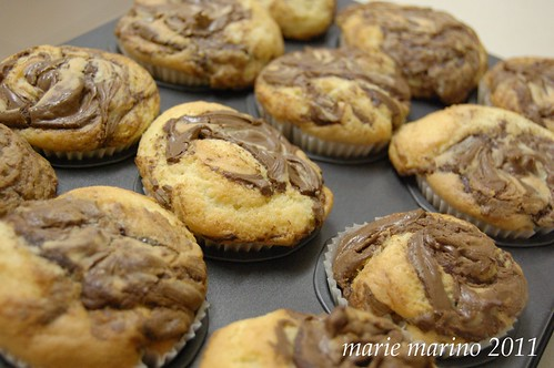 nutella cupcakes after