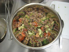 Rice salad made in Eat Good, Feel Good cooking class