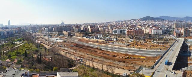 Panorámica Pont del Treball - Sur Elevado - 01-02-11