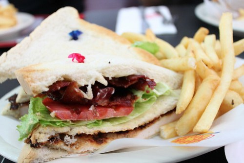 Chicken Club Sandwich at Johnny Rockets