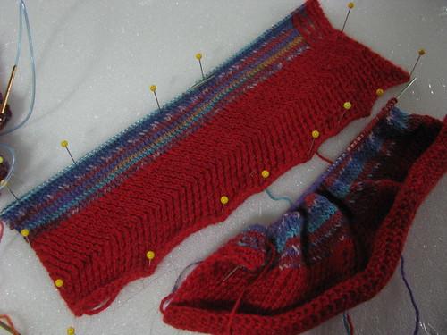 Flat Knitted Dragon Test Half Way