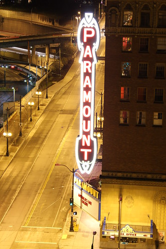 The Paramount Theatre from my apartment balcony