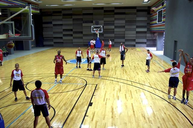 Big Boy's basketball court