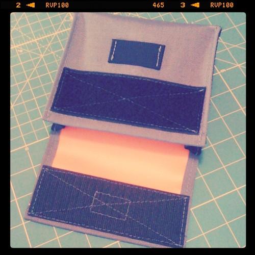 Grey & Orange hip bag by Archive Victor