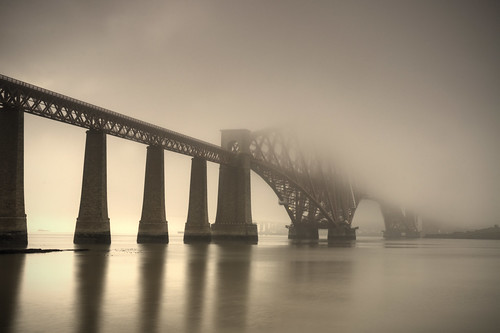 Forth Bridge in the Fog