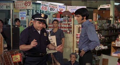 Elvis and Ed Asner in Glassmans