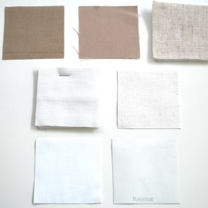 Country Curtains shade samples