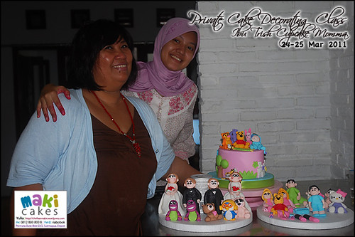 Kursus Birthday Cake- Ibu Trish Cupcake Momma____ - at Maki Cakes