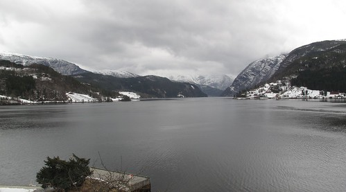 View from Brakanes Hotel in Ulvik