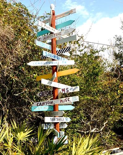 Directional Signs, Grayton Beach, Fla.