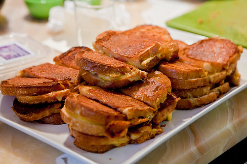 Double Cheddar and Tomato Jam Sandwiches
