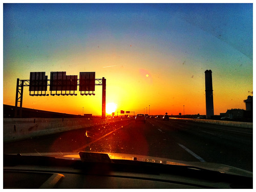 Sunset on the 95