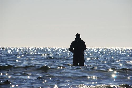 Frode og havet. Foto: Fredrik Leth
