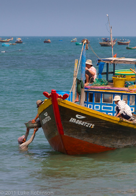 Fishermen on Phan Thiet Beach