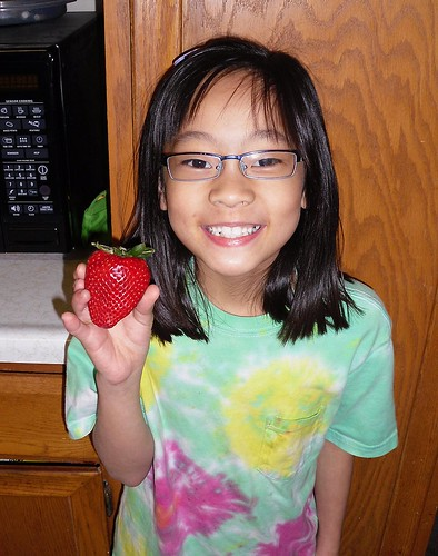 Happiness is a HUGE Strawberry!