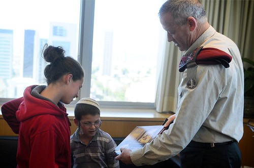 Fogel Family Children Meet With IDF Chief of Staff