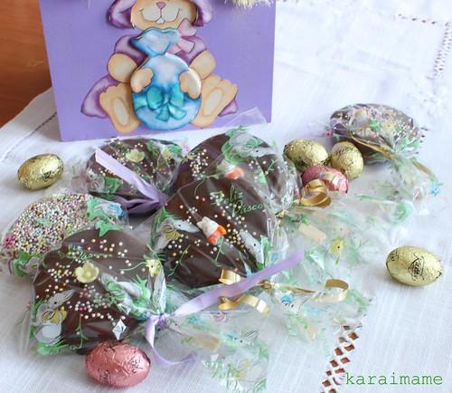 Cookie sandwich chocolate lollipop