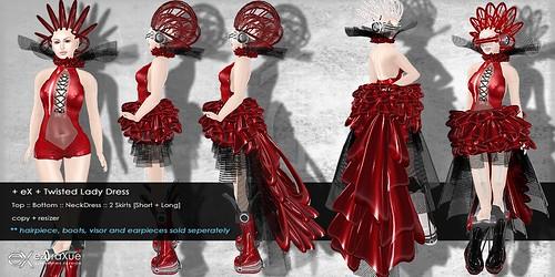 + eX + Twilight Lady Dress *Red