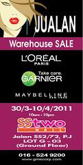 L'Oreal warehouse sale