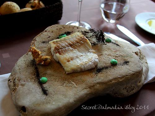 Fillet of flounder on a rock!