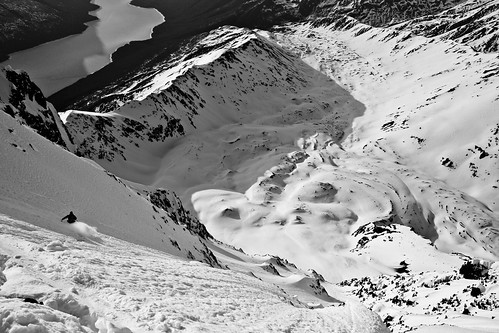 Big line on the east side of Eklutna Lake alaska skiing