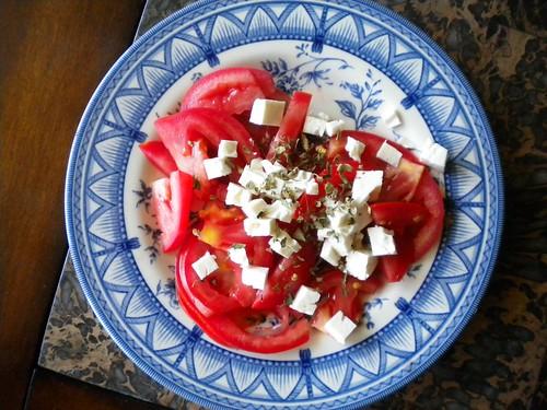 tomate y queso feta