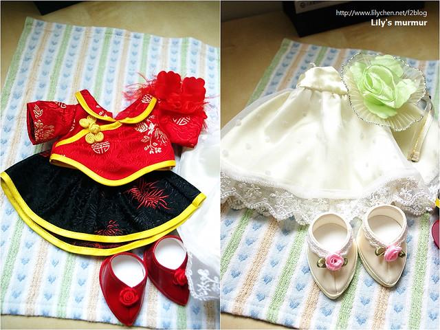 這是目前荳芽小妹僅有的兩套衣服,我打算購入第三套,嘿嘿。