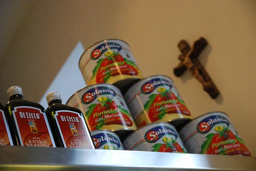 San Marzano Tinned Tomatoes, De Cecco Extra Virgin Olive Oil - D.O.C. Pizza, Carlton by avlxyz