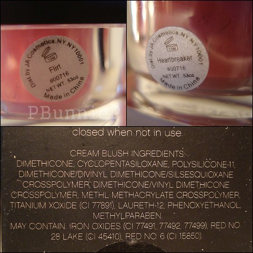 ELF Cream blush ingredients