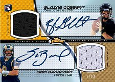 2011 Topps Finest Football Dual Jersey Autograph Card