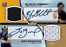 2011 Topps Finest Football Dual Jersey Autograph Card