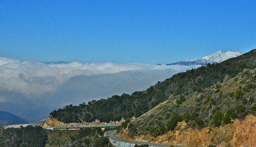 A Glorious Peek of Mount Baldy by Shirley Buxton