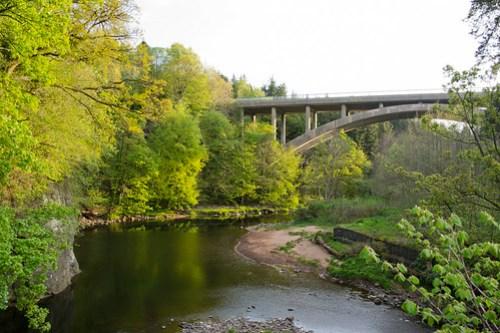 The Howford Bridge from the Auld Howford Brig