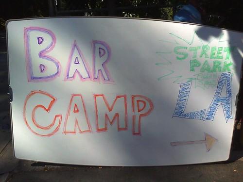 BarCampLA signage