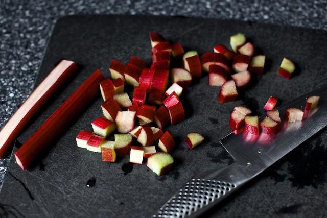 rhubarb, diced